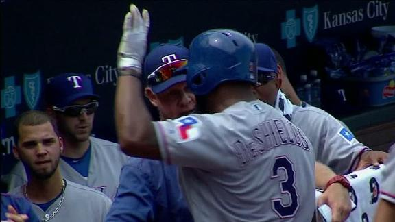 DeShields gives Rangers the lead with homer