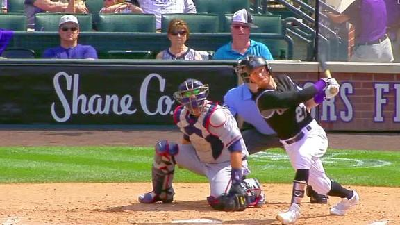 Story's two-run shot extends Rockies' lead