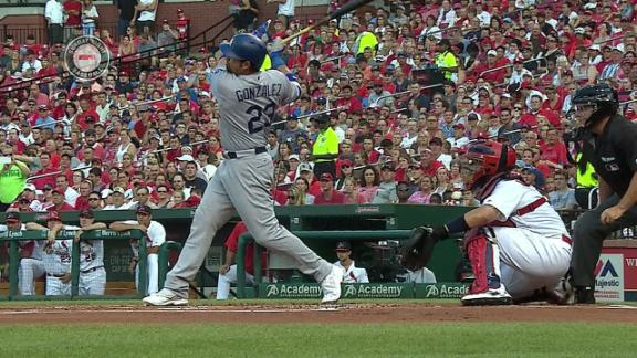 Gonzalez clears the bases with a grand slam