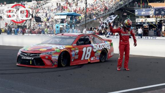 Kyle Busch wins Brickyard 400 for historical sweep; Jeff Gordon 13th