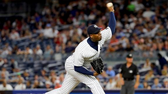 Chapman bringing heat to the Cubs