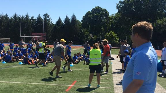 Odell Beckham Jr. shows no mercy at his camp
