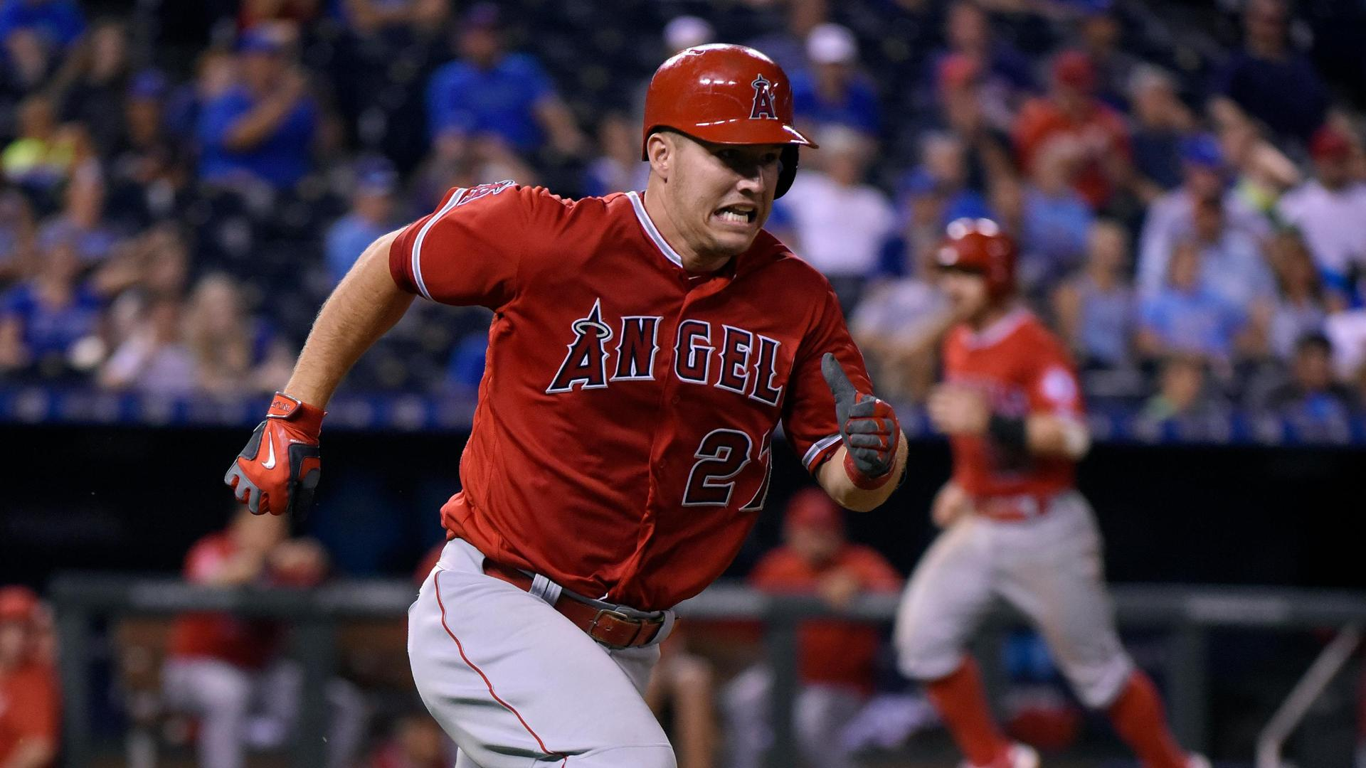 Trout's two-run double increases Angels' big lead
