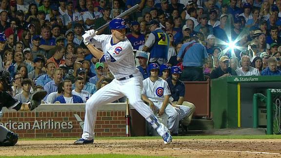 Cubs on the board with a Bryant HR