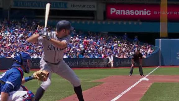 Adam Rosales' two-run blast gives Padres lead