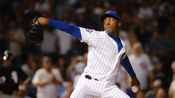 Chapman dazzles in debut as Cubs rout White Sox