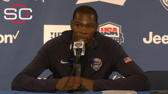 Durant feeling great after playing at Oracle Arena
