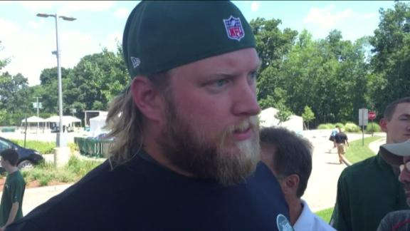 Video - Mangold tap dances around QB questions