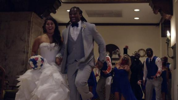 DeAngelo Williams' Walking Dead wedding