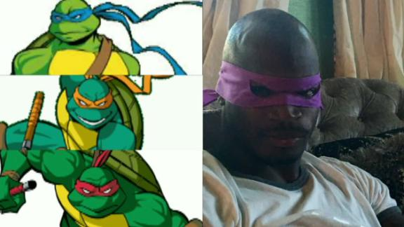 Video - Adrian Peterson's NFL Mutant Ninja Turtles