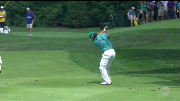 Matsuyama holes out for eagle