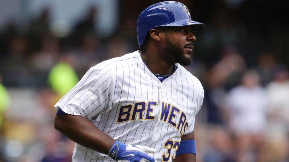 Carter jump starts Brewers with two-run homer