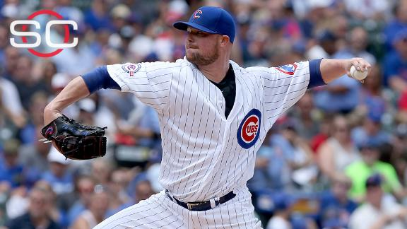 Lester strong in Cubs blowout win