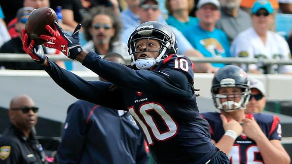 Texans' DeAndre Hopkins seeks new deal, holds out from camp