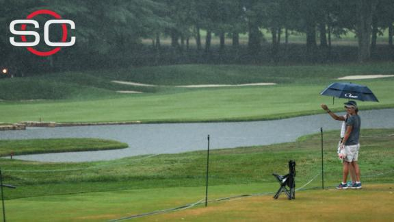 Rain causes suspension of third-round play at PGA Championship