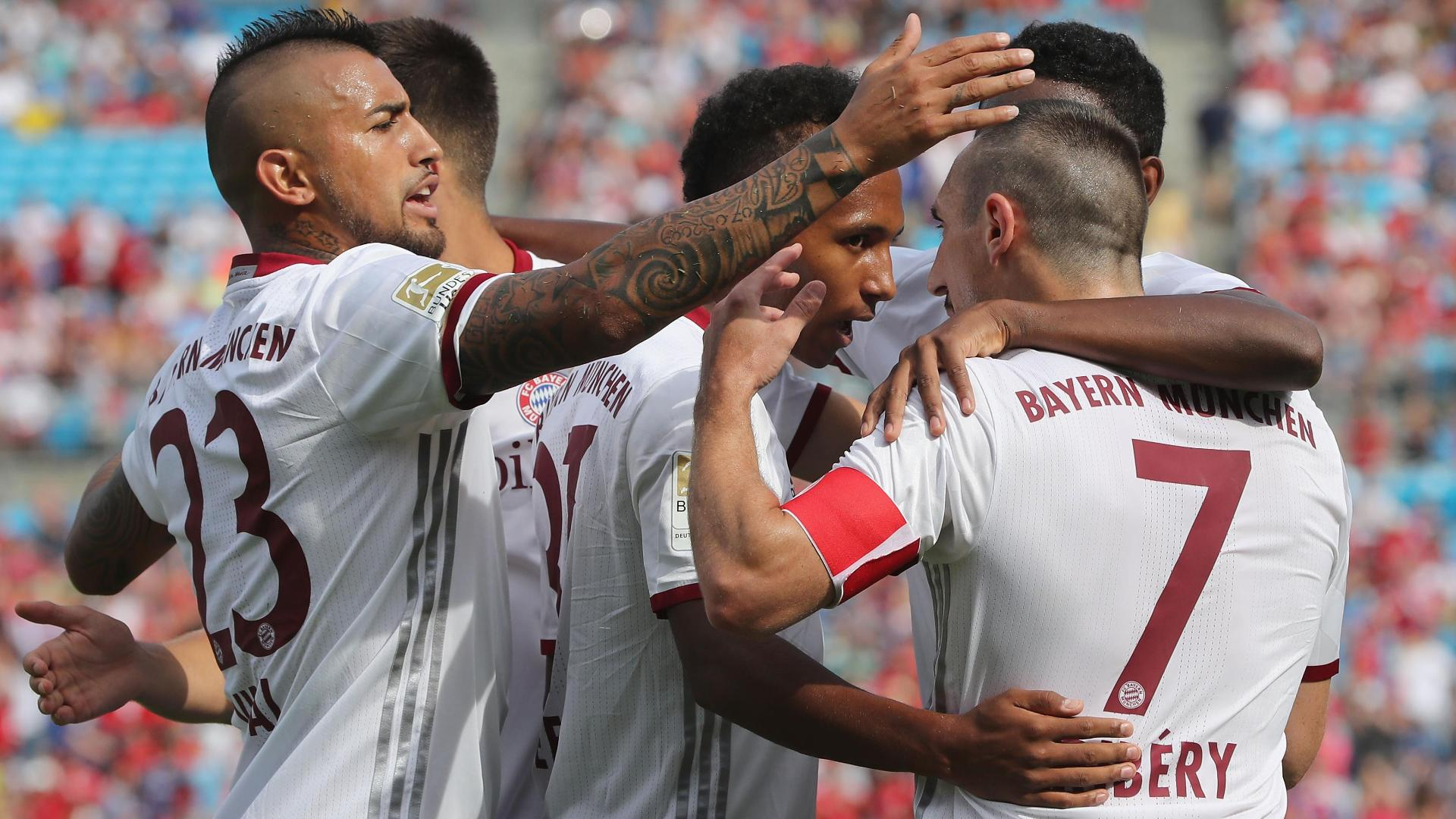 Julian Green scores his third of the first half