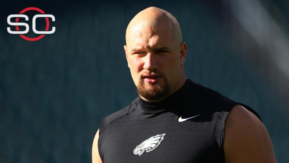 How would the Eagles replace Lane Johnson?