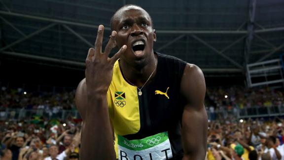 Bolt, Jamaica win third straight 4x100m gold