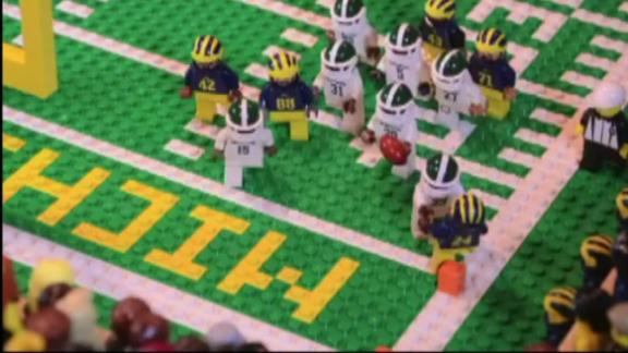 Relive the Michigan-Michigan State finale with Legos