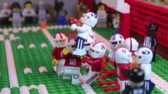 BYU's thrilling Hail Mary win over Nebraska...with Legos