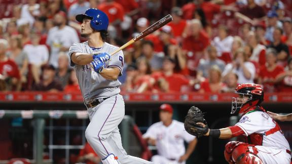 Darvish's first career HR increases Rangers' lead