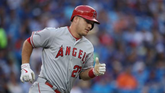 Trout's solo shot puts Angels on the board
