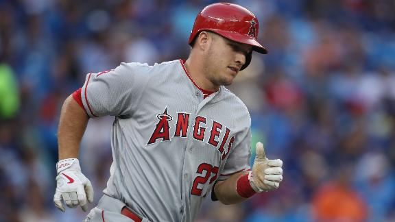 Trout gets Angels rolling with two of his four RBIs
