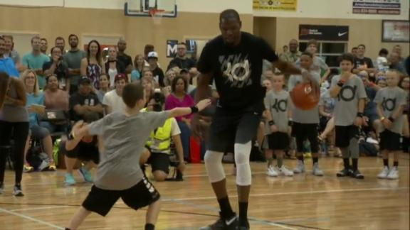 NBA players don't hold back vs. kids