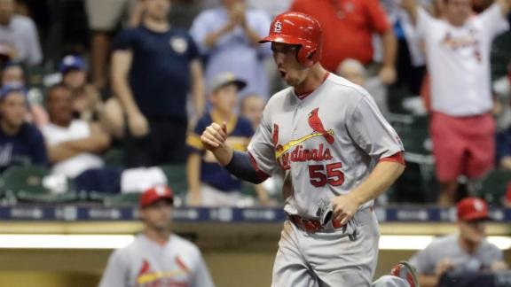 Cardinals take the lead on throwing error