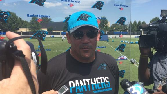 Ron Rivera got a kick out of military jets buzzing practice field