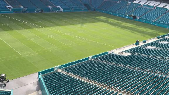 New canopies at Hard Rock Stadium were put in to protect fans