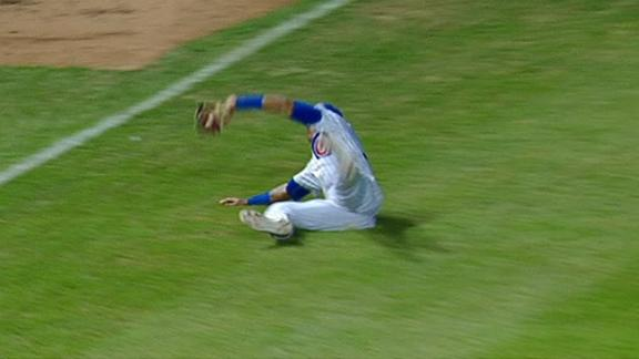 Russell lays out making spectacular catch