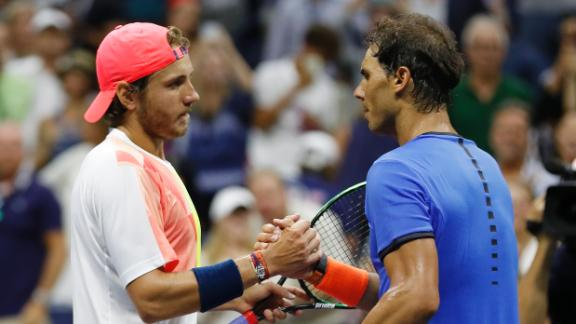 Pouille ousts Nadal, advances to quarterfinal
