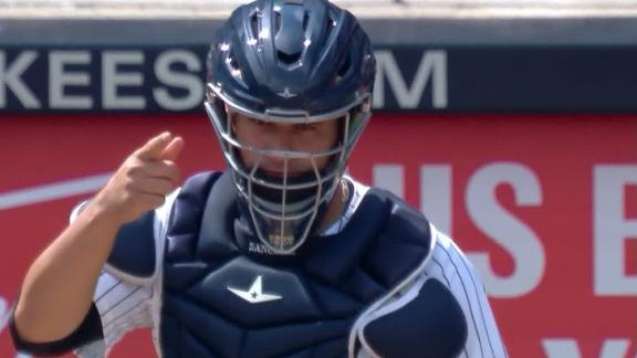 Sanchez unleashes missile to catch Upton Jr. stealing