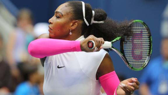 Serena makes history with easy win over Shvedova