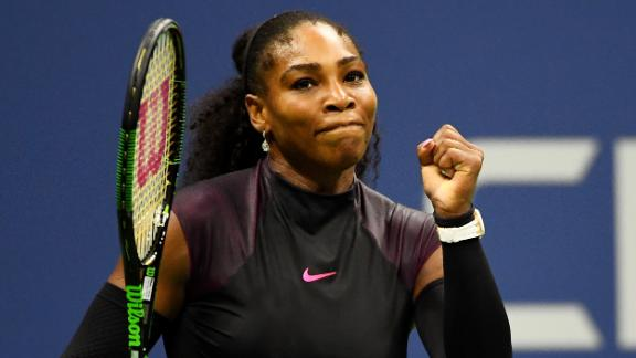 Serena gets tested, fights off Halep in three sets