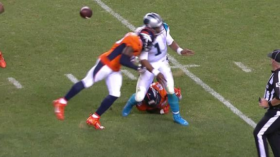 Cam Newton takes vicious hit to the head