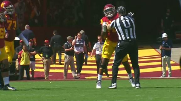 USC OT Edoga ejected for throwing punch, pushing official