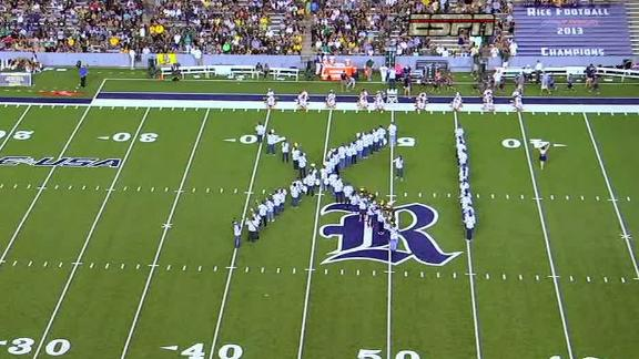 Rice band marches into 'IX' versus Baylor