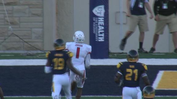 C. Virgil pass to J. Jordan for 85-yard TD