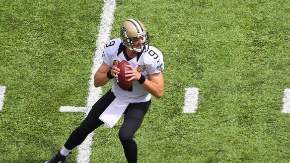 Saints' Brees can't find answer to revamped Giants defense
