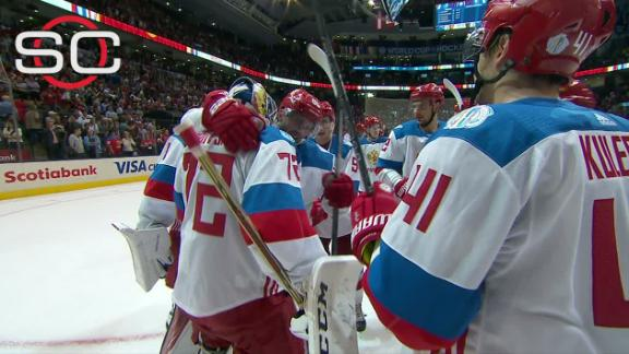 Russia holds off late charge to beat North America