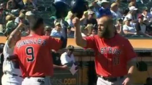 Gattis goes deep twice, including one smash going 441 feet