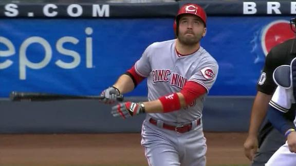 Votto's HR puts Reds ahead of Brewers