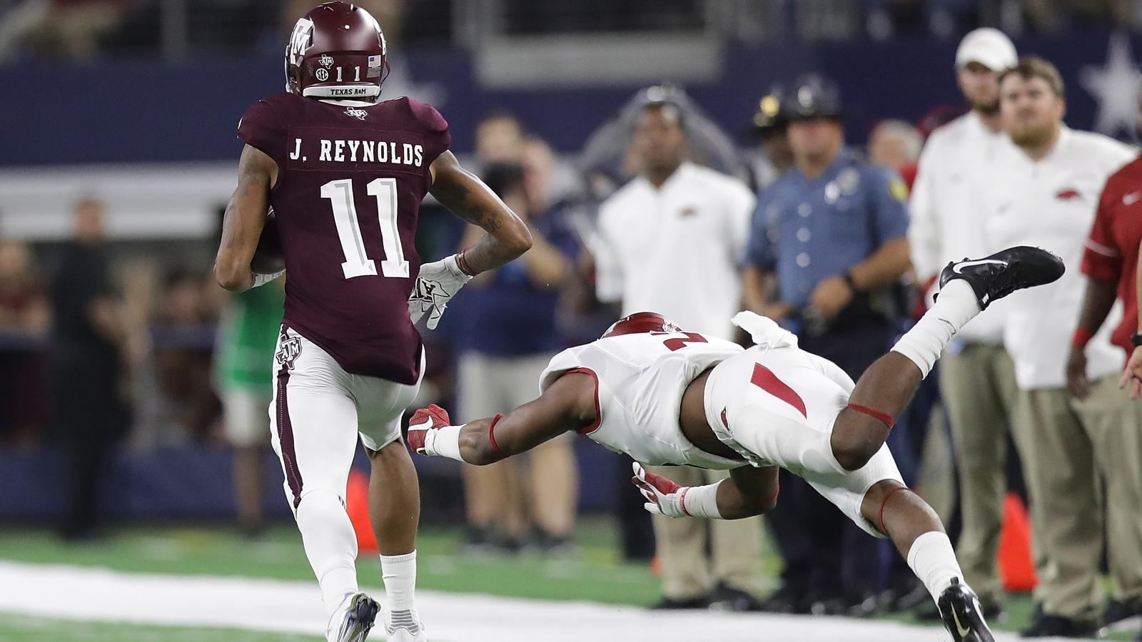 Aggies's 92-yard TD is the big blow in win over Razorbacks