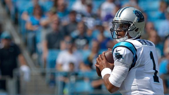Cam gets hurried, throws third INT of game