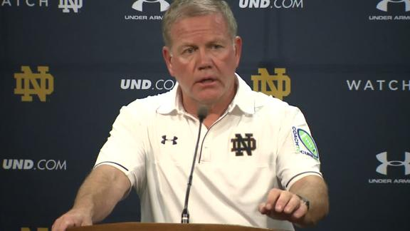 ND's Kelly after loss: 'Every position' up for grabs