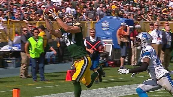 Rodgers and Nelson connect for two TDs