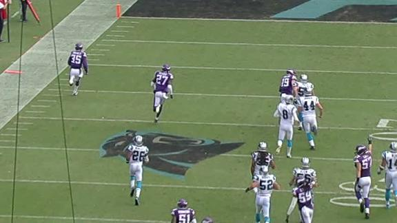 Sherels runs through the Panthers for 54-yard return