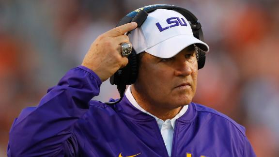 Did LSU fire Les Miles before Alabama game on purpose?